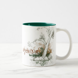 ワイオミングの緑の木のマグ ツートーンマグカップ