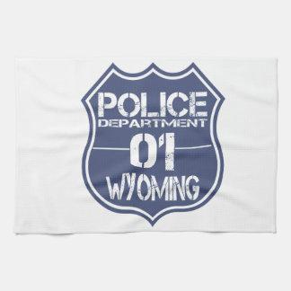 ワイオミングの警察の盾01 キッチンタオル