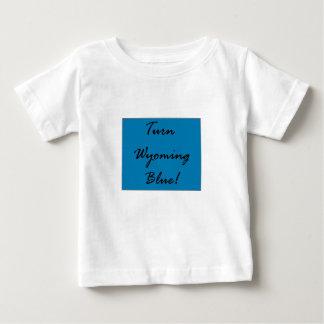 ワイオミングの青い民主国のパーティーのプライドを回して下さい ベビーTシャツ