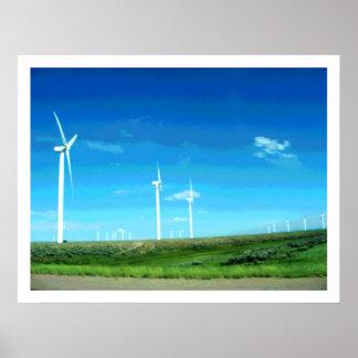 ワイオミングの風力IIのプリント ポスター