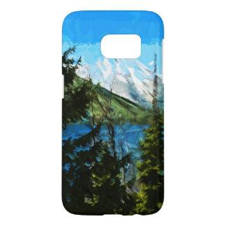 ワイオミング壮大なTeton山の抽象芸術 Samsung Galaxy S7 ケース