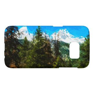 ワイオミング壮大なTeton山の森林抽象芸術 Samsung Galaxy S7 ケース