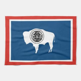ワイオミング米国の州の旗タオル キッチンタオル