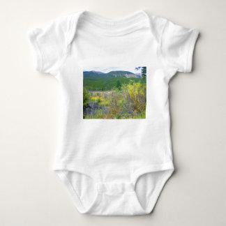 ワイオミング草原の写真は服装の印刷しました、 ベビーボディスーツ