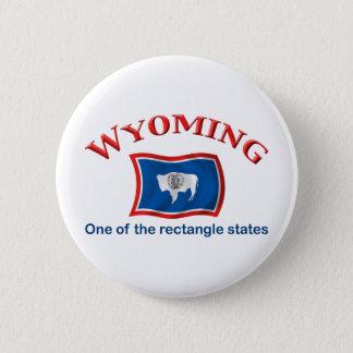 ワイオミング-長方形の州 缶バッジ