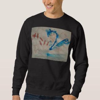 ワイシャツによって飲まれるデザイン スウェットシャツ
