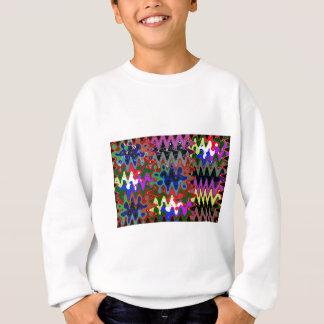 ワイシャツのポケットn背部nギフトのエレガントな波のプリント スウェットシャツ