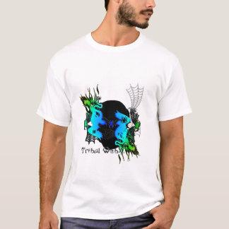 ワイシャツの人の十代の若者たちの男の子の種族のくもの巣 Tシャツ