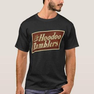 ワイシャツの暗い前部およびバックのhoodooのブラブラ歩く人 tシャツ
