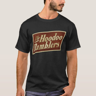 ワイシャツの暗い前部- hoodooのブラブラ歩く人だけ tシャツ