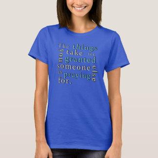 ワイシャツの暗闇のために祈ること Tシャツ