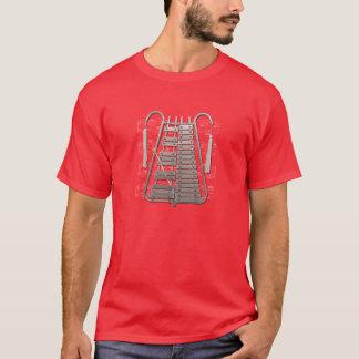 ワイシャツの(暗い)行進の鉄琴の一突きあなたの色 Tシャツ
