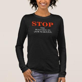 ワイシャツをいじめることを止めて下さい 長袖Tシャツ