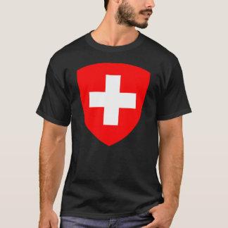 ワイシャツスイス連邦共和国の紋章付き外衣 Tシャツ