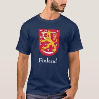 ワイシャツフィンランドの紋章付き外衣 Tシャツ