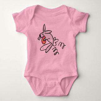 ワイシャツ-イースターのウサギのホツプ ベビーボディスーツ
