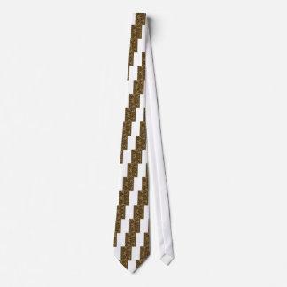 ワイシャツnのポッドのギフトの金ゴールドの金波の抽象美術 ネクタイ