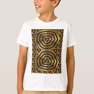 ワイシャツnのポッドのギフトの金ゴールドの金波の抽象美術 tシャツ