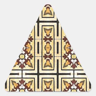 ワイドスクリーンの装飾的な生地の背景 三角形シール