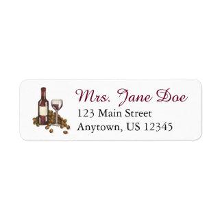 ワイナリーのガラスビンのワインのワイナリーの宛名ラベル ラベル