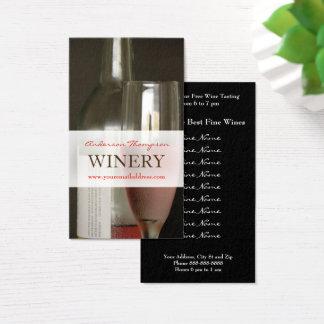 ワイナリーのブドウ園のワイン作成名刺 名刺