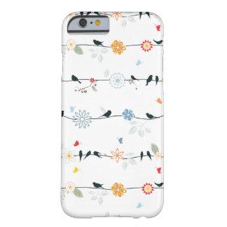 ワイヤーおよび花のフェミニンな鳥 BARELY THERE iPhone 6 ケース