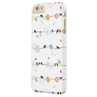 ワイヤーおよび花のフェミニンな鳥 BARELY THERE iPhone 6 PLUS ケース