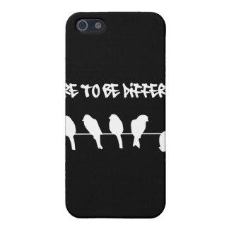 ワイヤーの鳥-異なるがあることを敢えてして下さい(黒) iPhone 5 カバー