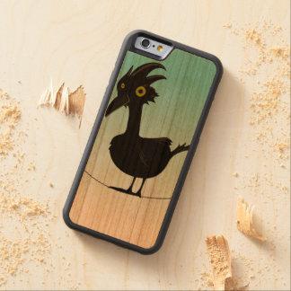 ワイヤーの黒い鳥 CarvedチェリーiPhone 6バンパーケース