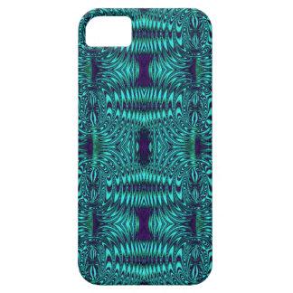 ワイヤーティール(緑がかった色)のモダンパターン iPhone SE/5/5s ケース