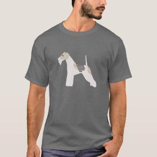 ワイヤーフォックステリア犬のシルエット Tシャツ