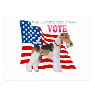 ワイヤーフォックステリア犬の投票 ポストカード