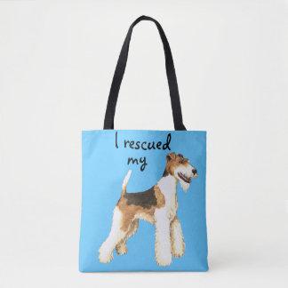 ワイヤーフォックステリア犬の救助 トートバッグ