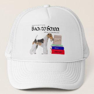 ワイヤーフォックステリア犬の新学期 キャップ
