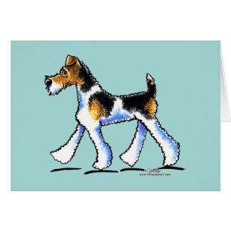 ワイヤーフォックステリア犬の早足 カード