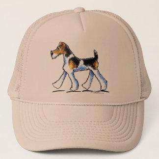 ワイヤーフォックステリア犬の早足 キャップ