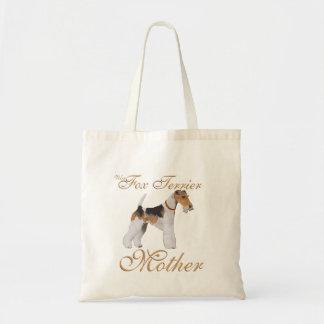 ワイヤーフォックステリア犬の母の日 トートバッグ