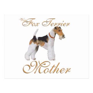ワイヤーフォックステリア犬の母の日 ポストカード