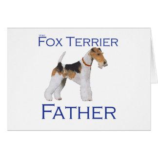 ワイヤーフォックステリア犬の父の日 カード