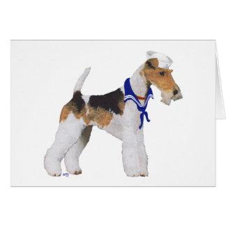 ワイヤーフォックステリア犬の船員 カード