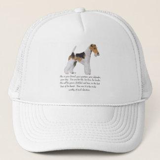 ワイヤーフォックステリア犬の記念品の女性 キャップ