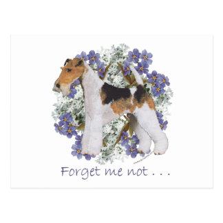 ワイヤーフォックステリア犬忘れ私ない ポストカード