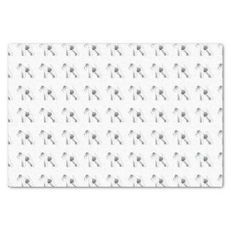 ワイヤーフォックステリア犬犬の品種絵のシルエット 薄葉紙