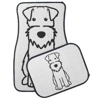ワイヤーフォックステリア犬犬の漫画 カーマット