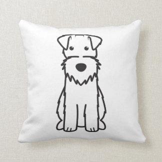 ワイヤーフォックステリア犬犬の漫画 クッション