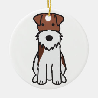 ワイヤーフォックステリア犬犬の漫画 セラミックオーナメント