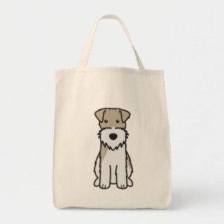 ワイヤーフォックステリア犬犬の漫画 トートバッグ