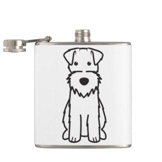 ワイヤーフォックステリア犬犬の漫画 フラスク