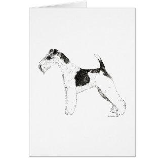 ワイヤーフォックステリア犬 カード