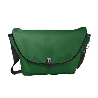 ワイヤーフォックステリア犬-緑の葉のデザイン メッセンジャーバッグ